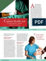 Canada Health Act Preventing Health Care Reform CSR Winter 2011