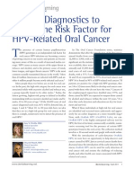 Salivary Diagnostics to Determine Risk Factor for HPV-Related Oral Cancer