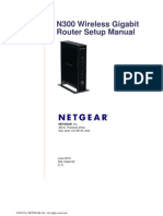 Netgear N300 Wireless Gigabit Router Setup Manual V1.0