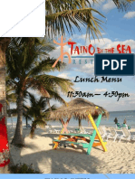 Taino By The Sea Lunch Menu