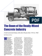 The Dawn of the Ready-Mixed Concrete Industry