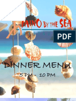 Taino By The Sea Dinner Menu