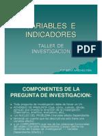 Taes_variables e Indicadores