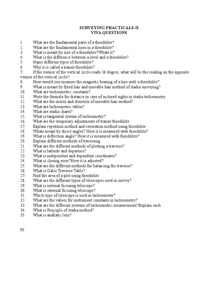 survey lab viva questions rh scribd com surveying 1 lab manual 3rd sem pdf anna university surveying 1 lab manual 3rd sem pdf anna university