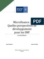 Memoire Micro Finance Maroc ESCP Europe