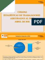 Estadísticas IMSS Abril 2011