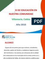 Hablemos de Educación en comunidad Villamaria