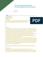 A IMPORTÂNCIA DA ADMINISTRAÇÃO FINANCEIRA E SUAS ÁREAS DE ATUAÇÃO