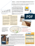 Plaquette sur le barrage de Ziga au Burkina Faso