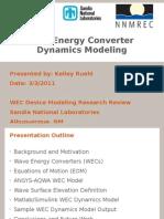 WEC Dynamic Modelling