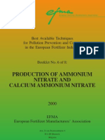 BAT Production of Ammonium Nitrate and Calcium Ammonium Nitrate