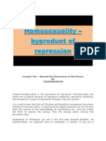 Homosexuality - Byproduct of Repression