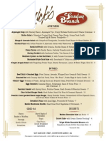 Remick's Brunch Menu