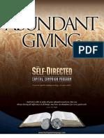 Abundant Giving TOC