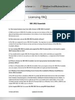 SBS 2011 Licensing FAQ