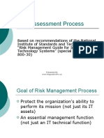 Risk Assessment Process Nist 80030 7383