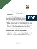 Gestion Del Sena 2002 - 2005 y Persepctivas 2006