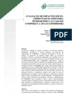 AVALIAÇÃO DE IMPACTOS SÓCIO-AMBIENTAIS DA INDÚSTRIA PETROQUÍMICA O CASO DO COMPERJ E A APA-GUAPIMIRIMRJ