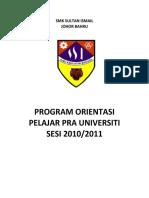 Program Orientasi Ting 6