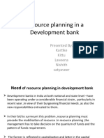 Resource Planning in a Development Bank