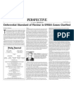 Diferential Standard of Review in ERISA Cases Clarified
