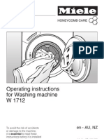 Miele W1712 Operating Instructions