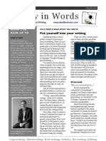 Clarity in Words Newsletter 2010_05