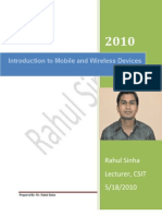 MOBILE & CELLULAR COMMUNICATION Lecture 1 Rahul Sinha