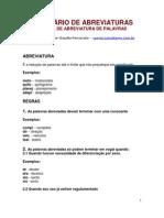 DICIONÁRIO DE ABREVIATURAS
