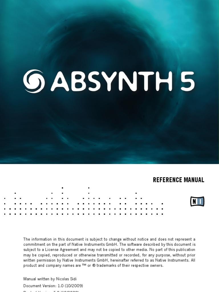 5 absynth скачать мануал
