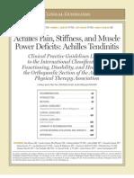 Guía Clínica para tendinitis aquiliana