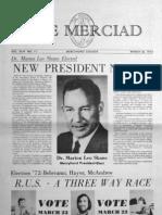 The Merciad, March 22, 1972