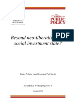 Beyond Neoliberalism Social Investment State