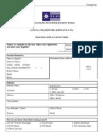 Plus Training Application Form