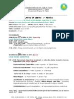 Programação do II Encontro do Plantio CEBUV da 7ª Região