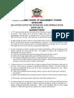 Quantitative Techniques & Operations Research