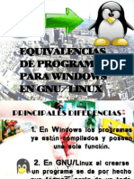 Equivalencias Windows