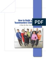 How to Build Toastmasters Club