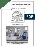 ME 2256 - Strength of Materials - Lab Manual