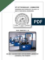 ME 2208 - Fluid Mechanics and Machinery - Lab Manual