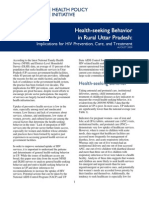 961 1 UP Health Seeking Behavior and HIV Brief FINAL 8-31-09 Acc