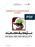 Guidelines for Cosmetic Products in Dubai