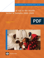 A Decade of Aid to the Health Sector in Somalia 2000-2009