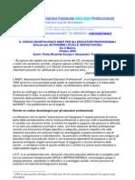 COdice deontologico educatore
