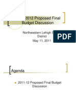 Proposed Final Budget Discussion 2011-2012