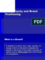 Brand Equity & Positioning