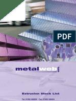 Metalweb Shapes Stock List