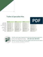 Platform Sales Specialist Equipment Hire Brochure
