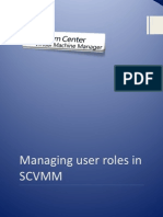 Managing User Roles in SCVMM