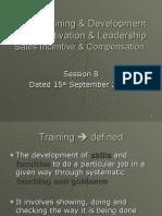 Session 8 - Training & Development
